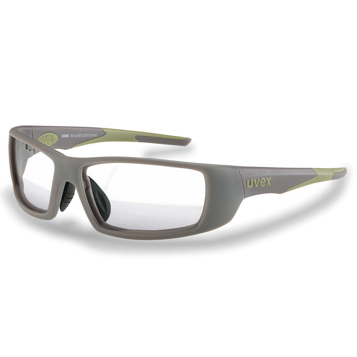 Uvex Korrektionsschutzbrille RX sp 5512 grün - Super-Entspiegelung