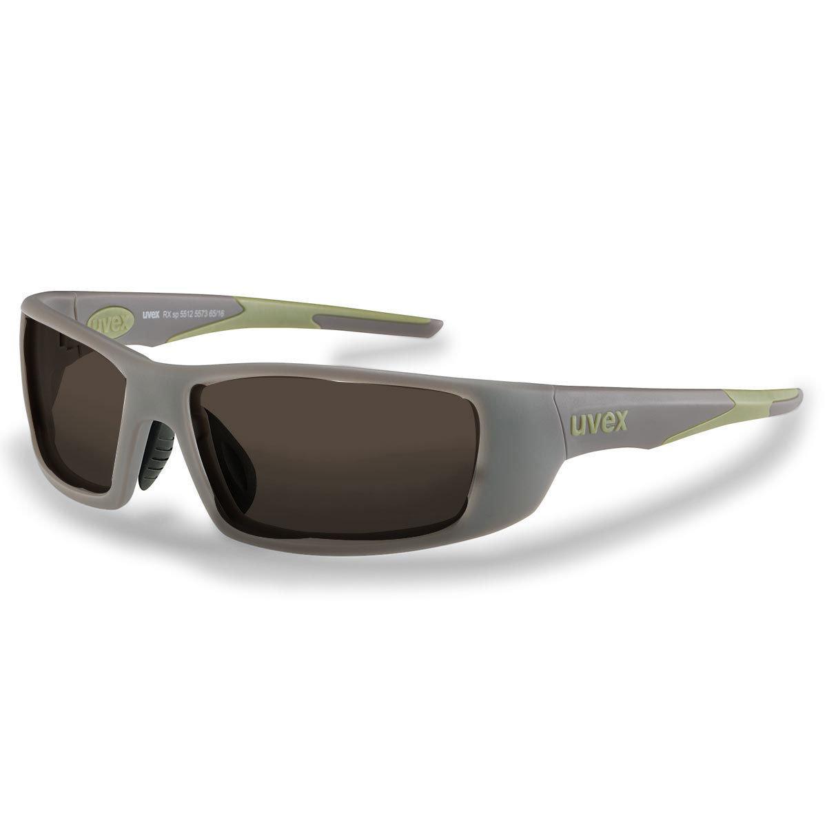Uvex Korrektionsschutzbrille RX sp 5512 grün - braun getönt